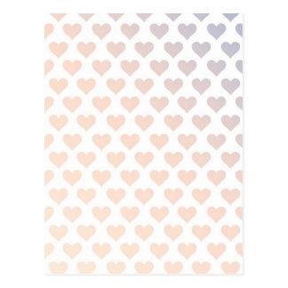 Heart Pattern - Sunset Gradient Postcard