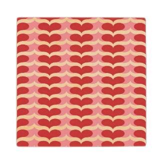 Heart pattern wood coaster