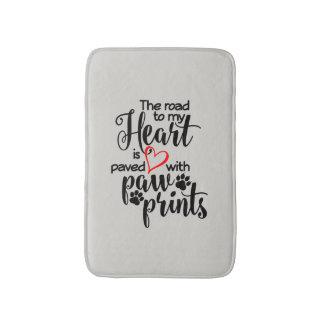 Heart Paved With Paw Prints Bath Mat Bath Mats