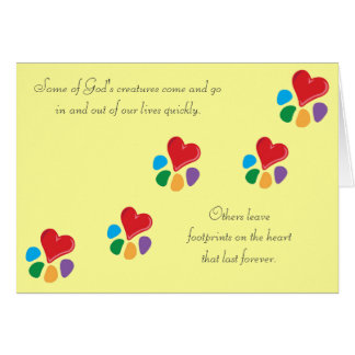 Heart-Paw_ Footprints on the Heart pet sympathy Card