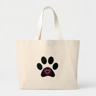 Heart Paw Print Jumbo Tote Bag