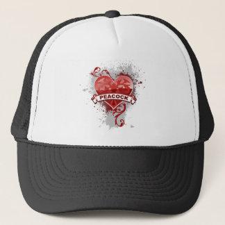 Heart Peacock Trucker Hat