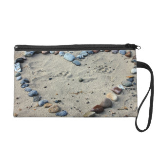 Heart Pebbles in the Sand Wristlets