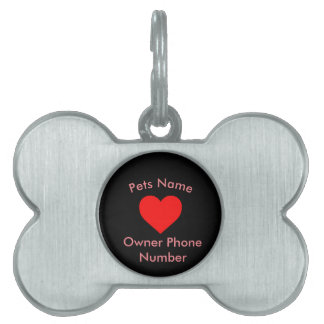 Heart Personalized Dog Tag