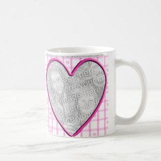 Heart Photo Frame Basic White Mug