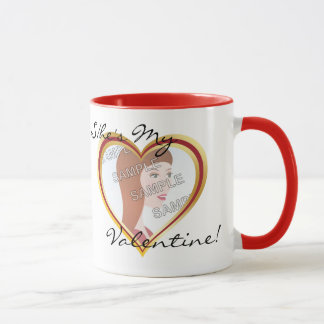 Heart Photo Frame Valentine Mug