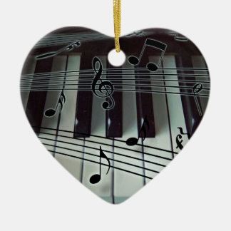 Heart Piano Keyboard Ornament