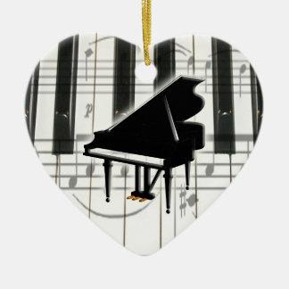 Heart Piano Keyboard Ornament