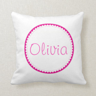 Heart Pillow Case With Name - Customize It!