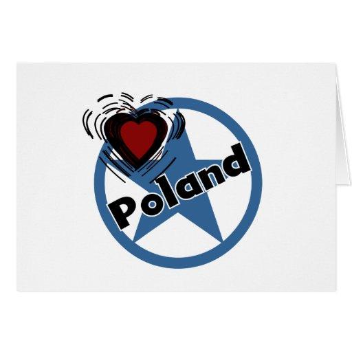 Heart Poland Greeting Card