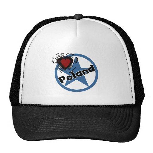 Heart Poland Mesh Hat