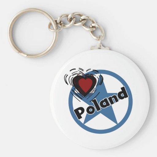Heart Poland Key Chain
