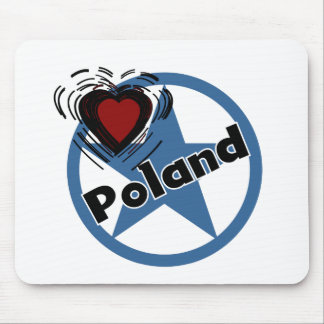 Heart Poland Mouse Mats