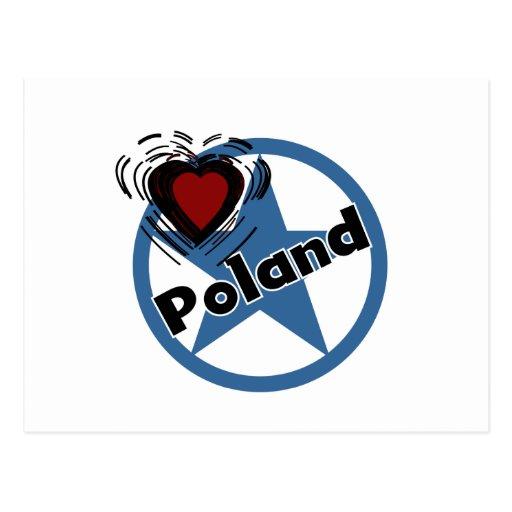 Heart Poland Post Card