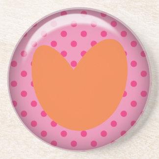Heart- Polka dots Coaster
