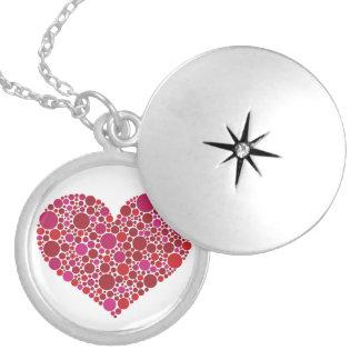 Heart Polka Dots Pattern Pendant