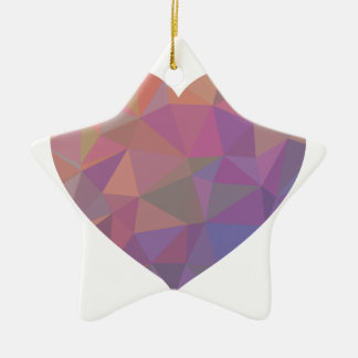Heart Polygonal Red Pink White Violet Elegant Wish Christmas Ornament