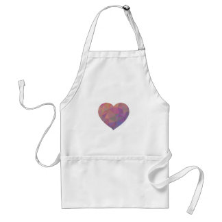 Heart Polygonal Red Pink White Violet Elegant Wish Standard Apron