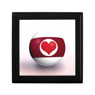 Heart Pool Ball Small Square Gift Box