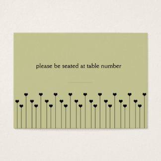 Heart Poppy Place Card