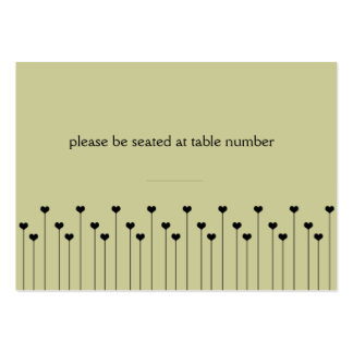 Heart Poppy Place Card Large Business Cards (Pack Of 100)