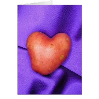 HEART POTATO card