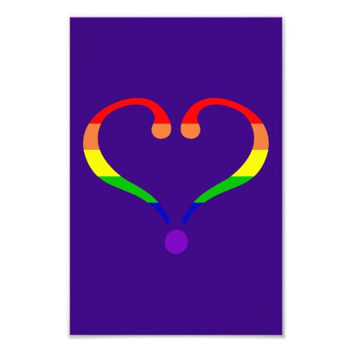 Heart Pride day of San Valentin and rainbow Photographic Print