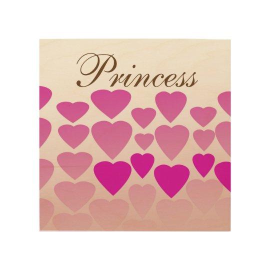 "Heart Princess 8""x8"" Wood Wall Art Wood Print"