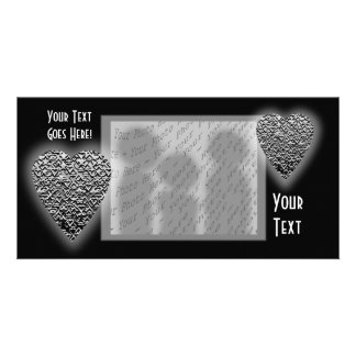 Heart Printed Gray Pattern Picture Card