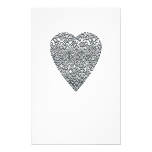 Heart. Printed Light Gray and Mid Gray Pattern. Full Color Flyer