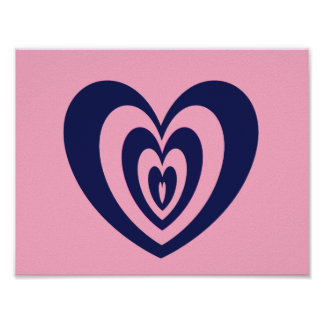 heart printed poster