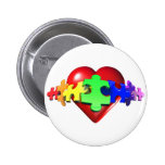 Heart Puzzle Links Pinback Buttons