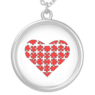 Heart Puzzle Custom Necklace