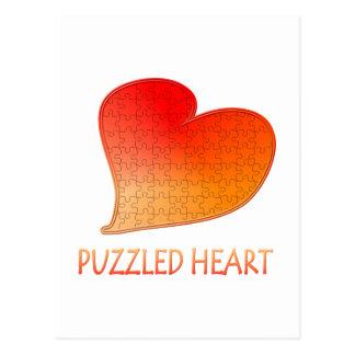 Heart Puzzle Postcard