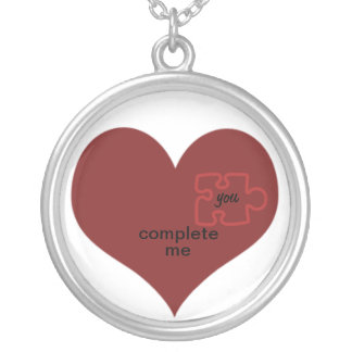 Heart Puzzle - You complete me. Custom Necklace