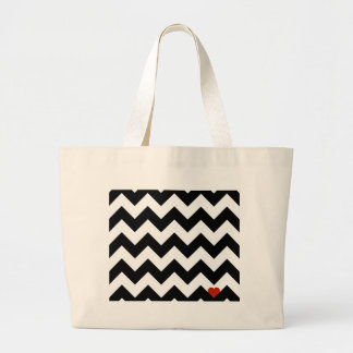 Heart & Rafter - Red Black/Traditional Jumbo Tote Bag