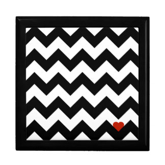 Heart & Rafter - Red Black/Traditional Large Square Gift Box