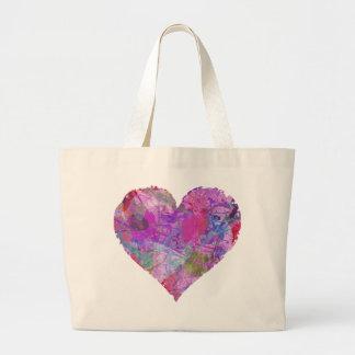 HEART RAINBOW DESIGN TOTE BAG cute abstract