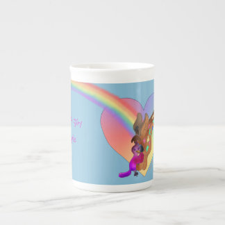 Heart Rainbow & Lila by The Happy Juul Company Tea Cup