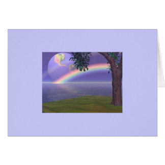 HEART RAINBOW TREE CARD