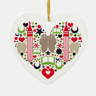 Heart Ramadan Ceramic Heart Decoration