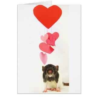 Heart Rat Greeting Card