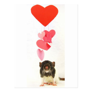 Heart Rat Postcard