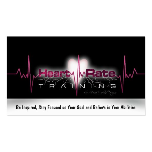 Heart Rate Training Goal Card Business Cards