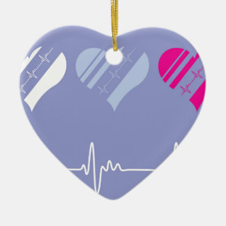 Heart Rate vector Christmas Ornament