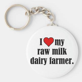 Heart Raw Milk Farmer Key Ring