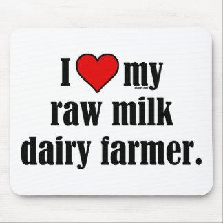 Heart Raw Milk Farmer Mouse Pad