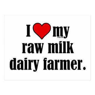 Heart Raw Milk Farmer Postcard