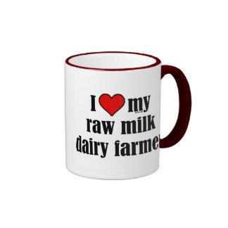 Heart Raw Milk Farmer Ringer Mug