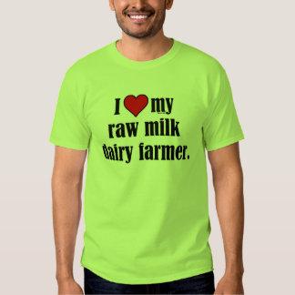 Heart Raw Milk Farmer Shirt